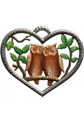 Heart with Owls small