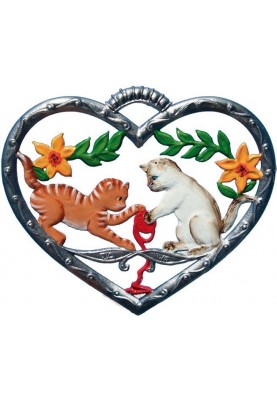 Heart with Cats playing small