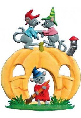 Halloween Kürbis mit Mäusen...