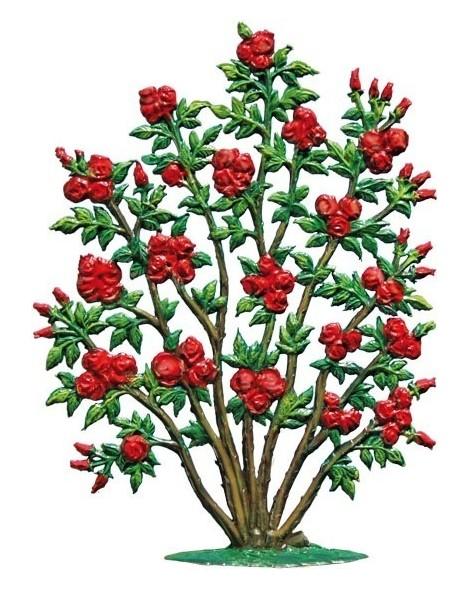 rosenbusch zum stellen  zinnfiguren bäume und blumen