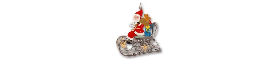 Zinn Kleinschmidt - Weihnachten, Zinnanhänger, 3D-Behang, handbemalt