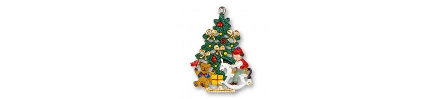 Zinn Kleinschmidt - Zinnanhänger, Weihnachten, handbemalt