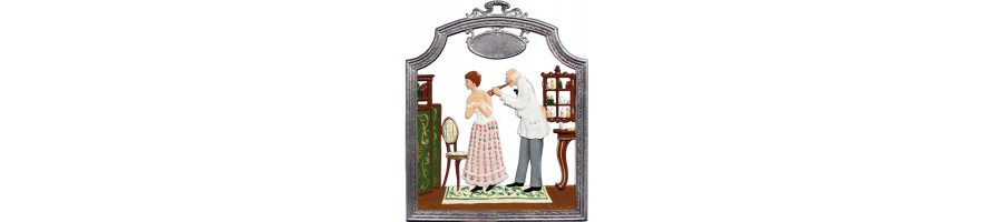 Pewter Kleinschmidt - Doctors, handpainted Pewter Pictures