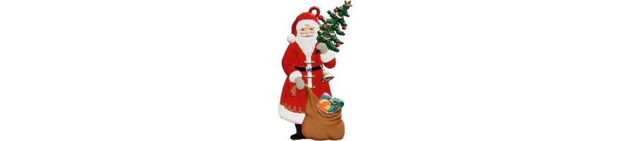 Pewter Kleinschmidt - Christmas Pewter Ornaments, Santa Claus, handpainted