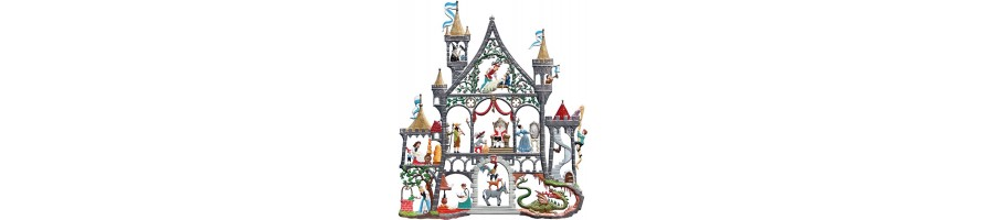 Pewter Kleinschmidt - Pewter Wall hanging Pictures, Houses/Fairy Tales, handpainted