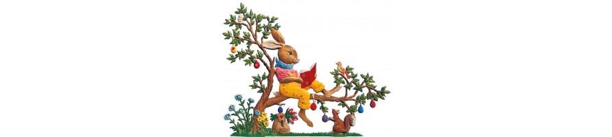 Pewter Kleinschmidt - Pewter Figurines, Easter, handpainted -