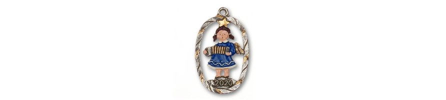 Pewter Kleinschmidt - Pewter Ornaments and Figurines, Novelties 2019, handpainted, made in Bavaria