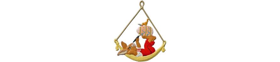 Zinn Kleinschmidt - Easter, Pewter Ornaments, handpainted, made in Germany, Bavaria