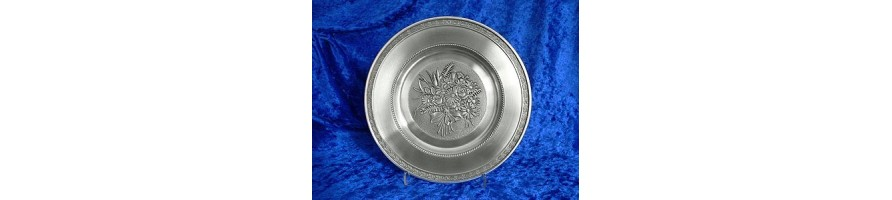 Pewter Kleinschmidt - Flower Plates made out of pewter of high Quality, casted by masters hand