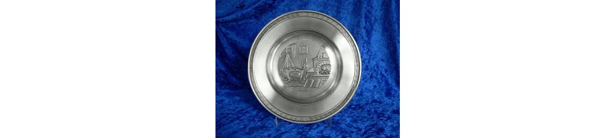Pewter Kleinschmidt - Baby Plates made out of pewter of high Quality, casted by masters hand