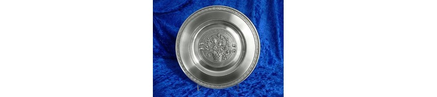 Pewter Kleinschmidt - Pewter own production, Plates, Anniversary, handcasted in Bavaria, Germany